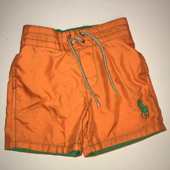 Nice Polo Ralph Lauren Baby Boys Two Tone Blue Board Shorts Sz 12m Buy Now Bottoms Boys' Clothing (newborn-5t)